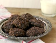 No-Bake Chocolate Oatmeal Frog Cookies are quick, easy and gluten-free. Kids can make them on their own and they don't heat up the house on warm days.