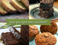 Four favourite zucchini recipes: muffins, brownies, classic zucchini breads and double chocolate zucchini bread