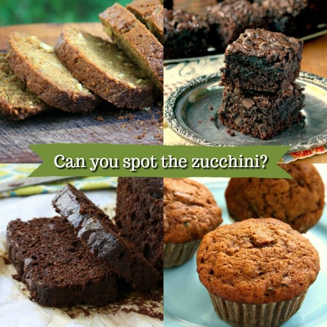 Four favourite zucchini recipes: muffins, brownies, classic zucchini breads and double chocolate zucchini bread