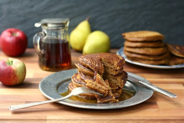 Easy pumpkin pancakes are healthy and delicious.