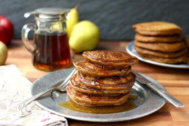 Easy pumpkin molasses pancakes are healthy and delicious.