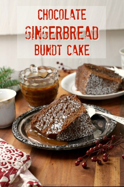 Chocolate Gingerbread Bundt Cake With Toffee Sauce