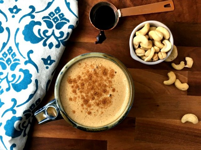 Thick & creamy cashew coffee recipe is a non-dairy treat
