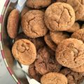 Best ever triple ginger cookies made with powdered ginger, candied ginger and fresh grated ginger