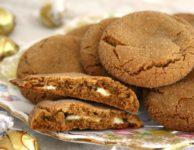 Biscuits à la mélasse et aux truffes de chocolat blanc
