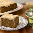 Refined sugar free banana cake is moist, delicious and not too sweet.. Frosted with cream cheese icing that's sweetened only with honey and molasses.