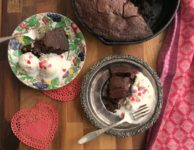 Decadent double chocolate skillet brownies