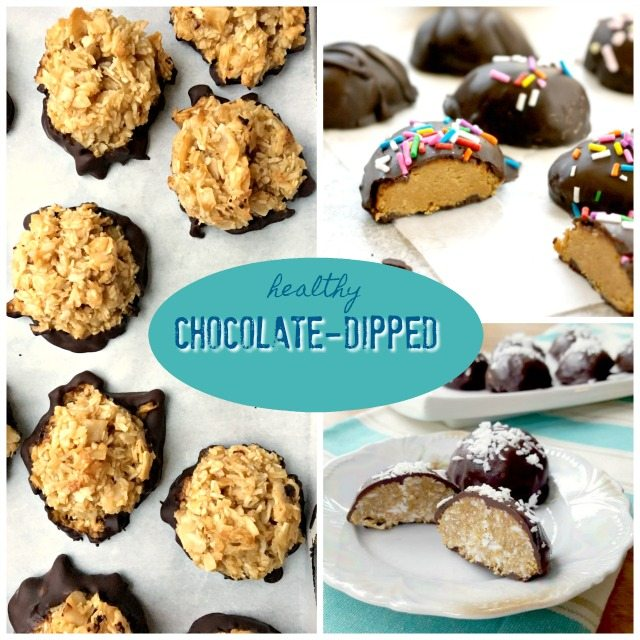 These 3 healthy & wholesome chocolate dipped Easter treat recipes are simple to make and a fun way to bring your kids into the kitchen.