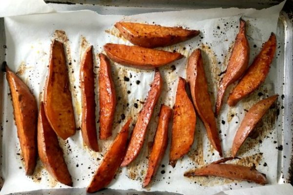 molasses roasted sweet potatoes