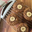 Wholesome banana bran muffins are refined sugar free