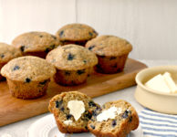 Whole wheat blueberry muffins --