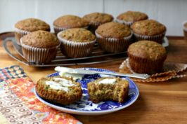 Lemon zucchini muffins are moist and not too sweet. Just a little molasses adds more depth to the flavour and the lemon zest gives them a great lift.