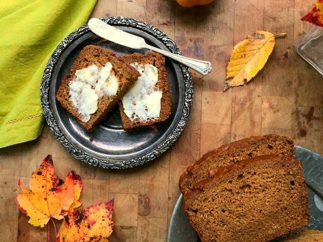 Pumpkin Banana Bread recipe: it combines everything I love about both pumpkin and banana bread, and it isn't too banana-y or too pumpkin-y. It is lightly spiced and not too sweet, plus it has the loveliest texture.
