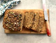 Four-Seed Oatmeal Quick Bread is a satisfying, wholesome bread that is delicious as a snack or alongside a main dish meal. Think of it as a substitute for muffins or a replacement for biscuits or cornbread with a chili, soup or stew.
