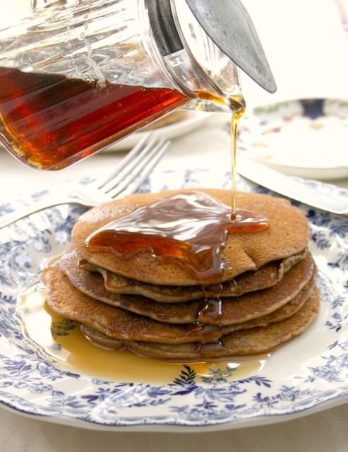 buckwheat flapjacks with molasses maple syrup