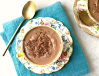 Healthy Greek Yogurt Chocolate Pudding ready in five minutes.