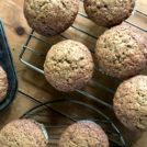 Brown sugar banana muffins - beautifully textured (a little cake like), likghtly flavoured with molasses and ground coffee. Quick and easy recipe.
