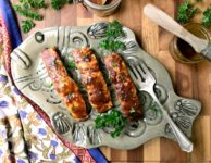 Spicy Salmon with mustard & Molasses is a weeknight meal that really is ready in under 30 minutes.