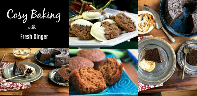 Cosy baking with fresh ginger: three recipes for gingerbread cake, muffins and cookies made with fresh ginger