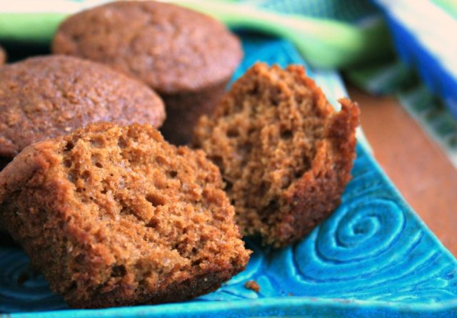 healthy ginger molasses muffins