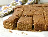 Chewy coconut molasses bars