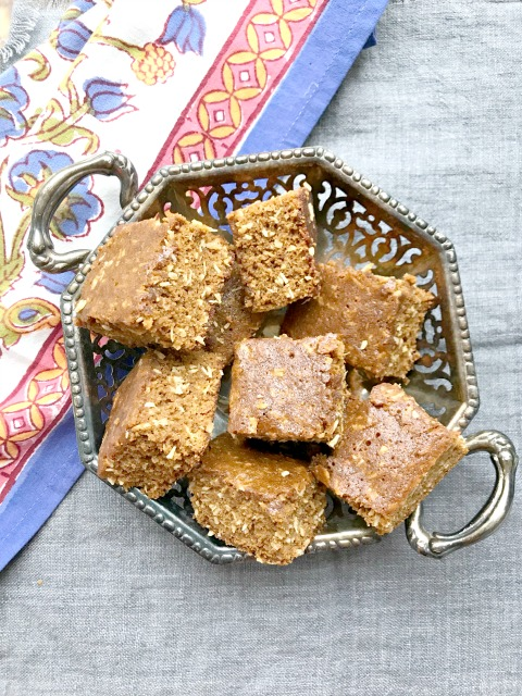 Chewy Coconut Molasses Bars are quick to mix up and last for days in a tin on the counter. This is a one-pot recipe.