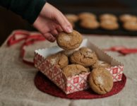 Ginger molasses crinkle cookies have that perfect texture that's not too soft and not too chewy.