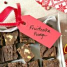 Easy fruitcake fudge made with pantry staples