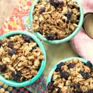 Easy peanut butter granola is wholesome and nutritious.