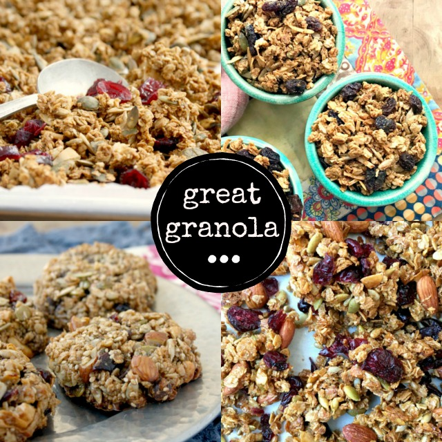 Four healthy granola recipes: Why buy granola when you can make healthy and delicious granola at home, for half the cost.