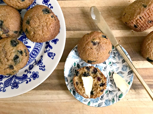 Quick and easy blueberry oat muffins are wholesome and satisfying