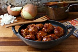 Sweet and sour turkey meatballs make great party food but can also be enjoyed as a main dish meal. The delicious sauce comes together quickly and suits all sorts of meatballs, including beef and pork.