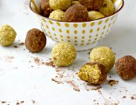 Golden Ginger Energy Bites are a nutritious snack filled with turmeric and ginger. Gluten-free and vegan