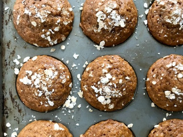 Quick & easy Peanut Butter Oatmeal muffins are made with pantry basics. They help you conserve hard-to-come-by ingredients by combing rolled oats with flour and replace butter with peanut butter.