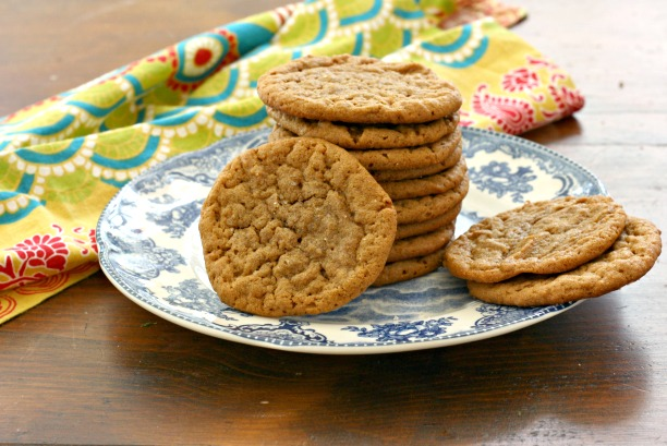 These easy five-ingredient peanut butter cookies are chewy in the middle and crispy on the outside in that irresistible peanut butter cookie way. Gluten-free & flourless.