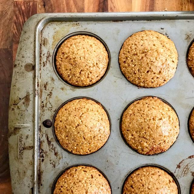 Quick molasses cornbread muffins