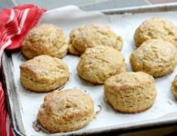 Lofty cornmeal biscuits