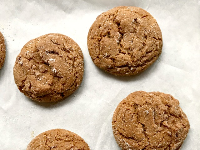 Spicy ginger molasses cookies for ginger cookie ice cream sandwiches