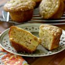 Ginger peach muffins are chock full of peaches and beautifully textured, not too sweet and have a crunchy streusel top.