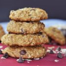 thick and chewy oatmeal chocolate chip cookies are a healthy snack