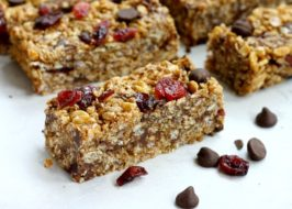 Crispy Chocolate Chip Granola Bars are no-bake and easy. This is a nut-free recipe.