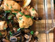 One-Pan Marinated Chicken and Mushrooms is an easy and delicious weeknight meal.