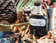 Molasses simple syrup cocktail mix