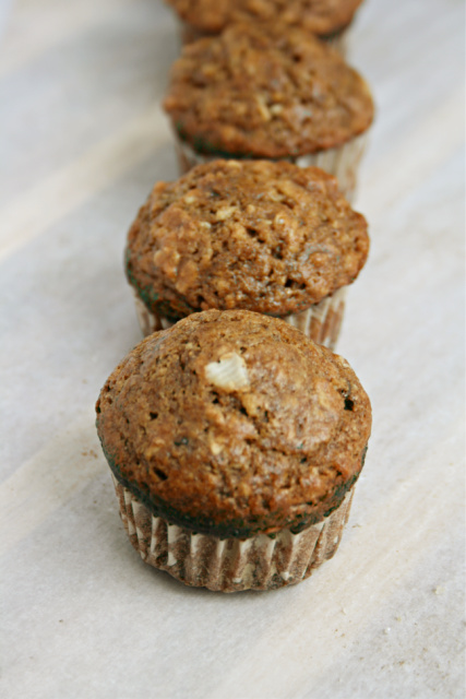 banana oatmeal muffins