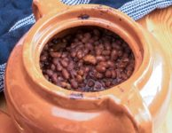old fashioned baked beans in the oven