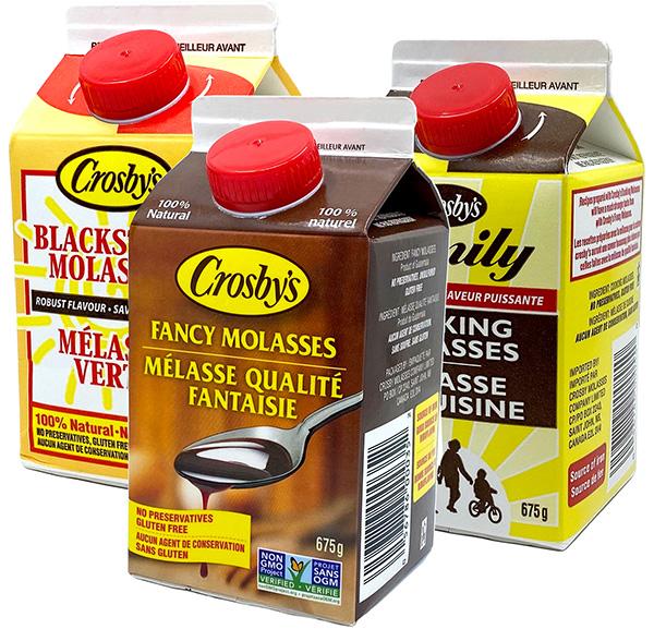 Crosby's molasses packaging
